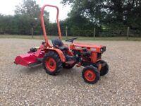 Kubota b4200 tractor with hymari flail cutter