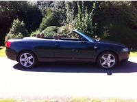 AUDI A4 2.5 TDI V6 SPORT CABRIOLET CONVERTIBLE, AUTOMATIC, FULLY LOADED, LOW MILEAGE, FULL HISTORY