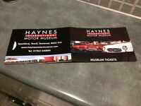 Family ticket to Haynes Museum