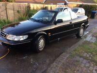 Saab 900 convertible injection ,manual p reg black