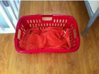 Plastic Laundry Baskets x 4