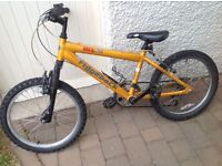 Child's bicycle..seat height 65cm and can be adjusted higher