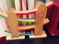 Wooden car slide game