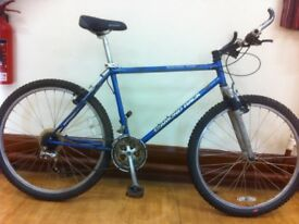 "Men's Mountainbike - refurbished 20"" lightweight Diamondback: front suspension, 21-speed, 26"" wheels"