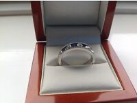 White gold and diamond eternity ring