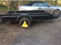 8' X 4' Braked trailer 1.3 tons
