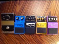 Boss CS-1, FDR-1, DF-2, HF-2, EHX Doctor Q