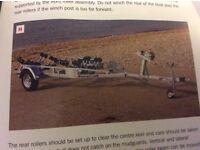 Roller Coaster Indespension 1500kg Boat Trailer, Braked Galvanised