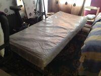Guest single bed with waterproof storage cover £30 no offers free delivery