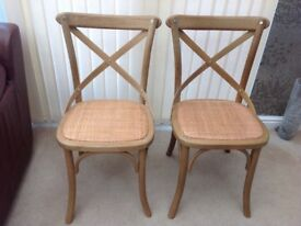 John Lewis Cross Back Dining/Bistro Chairs