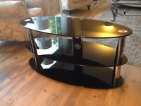 Black and silver tv stand .. SOLD