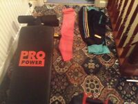 Pro power sit up bench bundle