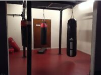 Commercial, very heavy duty, Solid steel freestanding MMA/boxing rig