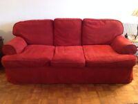 Comfortable sofa and armchair