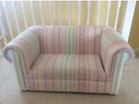 Laura Ashley upholstered small 2 seater clementine sofa. Excellent condition. £500 new.