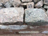Reclaimed granite setts