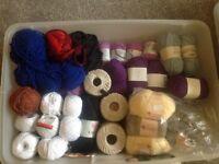 Box of high quality wool including Almerino Aran