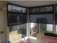 Roller Blinds x 6 Black stripe excellent condition £30