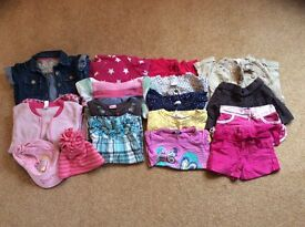 Bundle of girls clothes aged 2-3 years