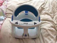 Dream baby bath seat with heat sensor