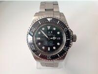 Rolex – Deepsea -sea dweller- Green/black face – all steel