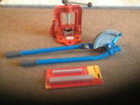 Brand new pipe vice and pipe bender with formers