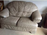 QUICK SALE THEEE PIECE LEATHER SUITE, 3 seater,2seater and armchair