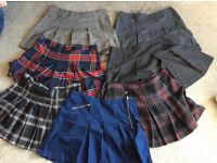 Size 16 short pleated skirts x7