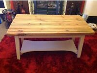 HANDMADE BESPOKE COFFEE TABLE - RECLAIMED WOOD DECKING - -CAN DELIVER LOCALLY