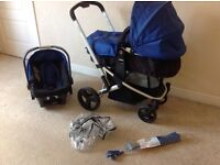 Mothercare Xpedior travel system pram including accessories