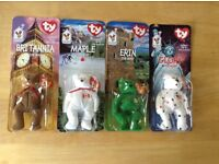 TY Beanie Babies set of 4 countries .