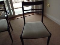 Six dining room chairs two carvers and four ordinary excellent condition