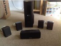Panasonic Surround sound - 5 speakers & sub woofer with DVD player