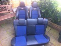 Ford Fiesta ST150 Blue/Black half leather seats