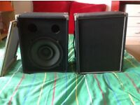 "2 x Mckenzie Professional Burgundy Frame Vintage 12"" 70w Speakers & Speaker Boxes"
