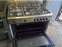 Silver stainless steel Range full gas 90cm....Mint free delivery