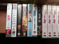BULK JOB LOT OF 19 x DVDS VHS VIDEOS MUSIC FILM TV MOVIES Cassette tapes dvd