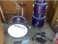 Junior drumkit 6 piece metallic purple