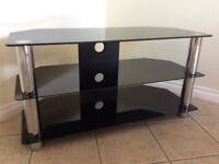 Tempered glass TV stand 32-40""