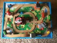Thomas the tank withtable and railway track and approx 90 friends must be seen