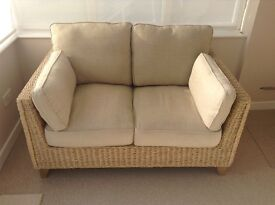 Marks and Spencer conservatory suite in 'as new 'condition with glass top coffee table