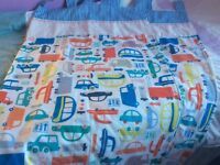A pair of boys tab top bedroom lined curtains from next