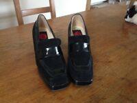 Red or Dead Ladies Black Platform Shoes