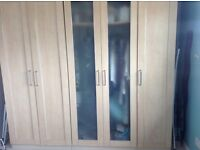 Beech Wardrobes and Chest of Drawers