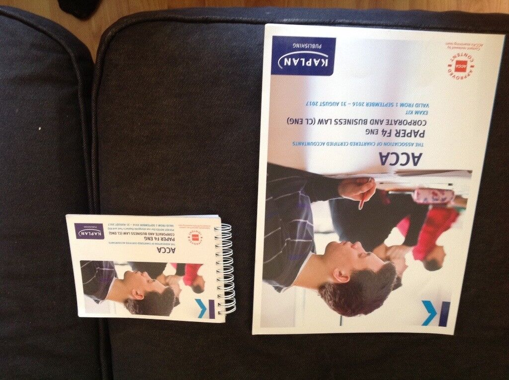 ACCA F4 Corporate and Business Law Exam Kit and Pocket Notes Sep16-Aug17  Kaplan | in Cotham, Bristol | Gumtree