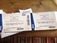 Alt-J concert tickets x 2 Dreamland Margate TONIGHT Tuesday 5 Sept