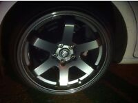 "18"" BOLAS 5 X 112 FITMENT( 8.5 FRONT 9.5 REAR )MAYBE SWAP GREAT CONDITION"