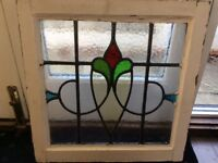 Vintage 20th Century Stained Glass Window