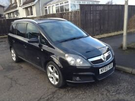 2007 Vauxhall Zafira SRI XP 140, 1.8l 7 Seater MPV Black with Full Service History Great Condition