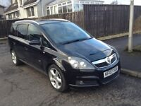 2007 Vauxhall Zafira SRI XP 140, 1.8l 7 Seater MPV Black with Full Service History Great Condition
